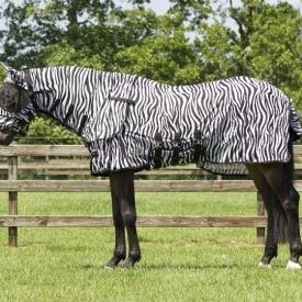 QHP Vliegendeken Zebra met hals en masker