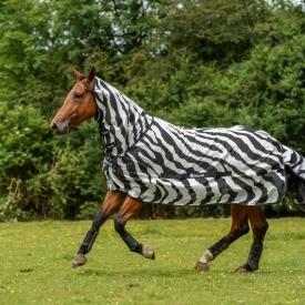Bucas Buzz-Off Full Neck Zebra